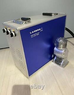 100W Fiber Laser Marking Engraving Machine, MOPA JPT M7, Rotary # 125, ZBTK Galvo