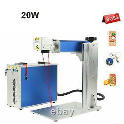 110V 20W Fiber Laser Marking Machine Engrave Metal Laser Focus engraver