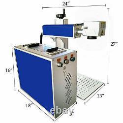 110V 30W Fiber Laser Marking Machine Metal Engraving Engraver High Precision