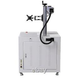 11.8 x 11.8 50W Desktop Fiber Laser Marking Laser Engraver with Rotary Axis B