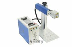 150x150mm Detached 20W Fiber laser marking machine metal / Non-Metal+Rotary axis