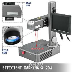 20W Fiber Laser Engraver optical fiber marking machine integrated with computer