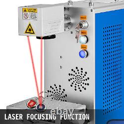 20W Fiber Laser Marking Machine 110X110mm Double Red Light Laser Focus Engraver