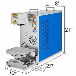 20W Fiber Laser Marking Machine 32/64 Bit Windows Xp/7/8/10 Laser Focus Engraver