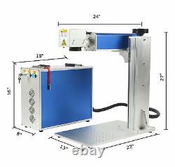 20W Fiber Laser Marking Machine Fiber Laser Engraving Machine & Rotating Axis