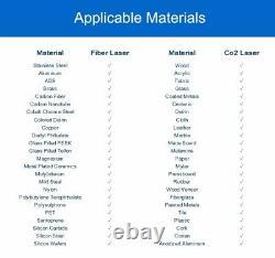 20W Fiber Laser Marking Machine & Rotary Engraving Stainless Steel Metal CE/FDA