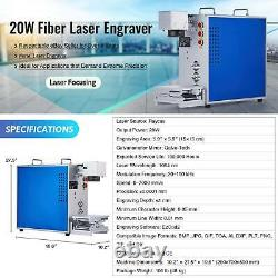 20W Raycus Fiber Laser Marking Machine Metal Laser Marker Engraver 5.9 x 5.9