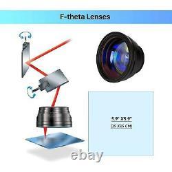 20W Raycus Fiber Laser Marking Metal Laser Marker Engraver 5.9x5.9 Laser Focus