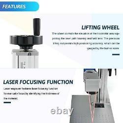 20 Watt 7.9x 7.9 Raycus Fiber Laser Marking Metal Laser Engraver Cutter Split