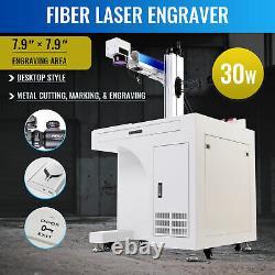 30W 7.9 ×7.9 Fiber Laser Marking Machine Metal Engraver Marker Desktop