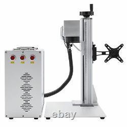 30W 7.9x7.9 Split Fiber Laser Marking Metal Marker Engraver with Rotary Axis