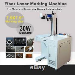 30W Desktop Fiber Laser Marking Machine Deep CNC Laser Metal Engraving 7.9x7.9