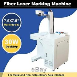 30W Desktop Fiber Laser Marking Machine For Metal & Non-Metal 7.9x7.9 Engraver