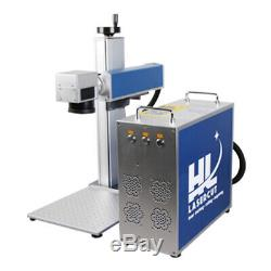 30W Fiber Laser Marking Machine 220x220mm Metal Engraving With Rotary axis