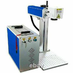 30W Fiber Laser Marking Machine Metal Engraving Engraver EzCad2 WithRotary Axis