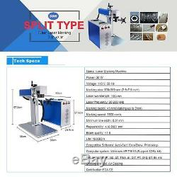 30W Fiber Laser Marking Machine With Rotation Axis 7.9x7.9 Metal Engraver Ezcad2
