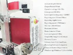 30W Fiber Laser marking machine metal engraver engraving cnc rotary axis chuck