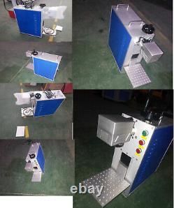 30W Fiber laser metal marking Engraving machine logos jerwely Printer 110V
