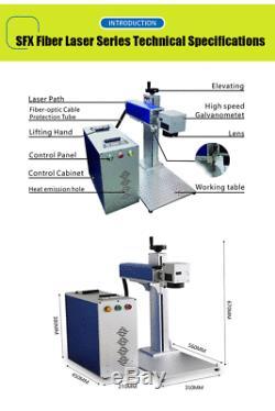 30W JPT Laser Source Laser Marker Fiber Laser Marking Machine Engraver Engraving
