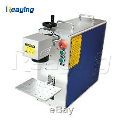 30W Mini Fiber Laser Metal Engraving Marking Machine Sino Galvo Lens 110110mm