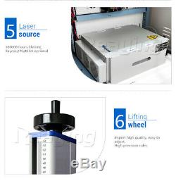 30W Raycus 110110mm Fiber Laser Marking Machine Laser Engrave Metal & Non-metal