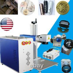 30W Raycus Fiber Laser Marking Engraving Machine Rotary Axis for Tumblers FDA CE