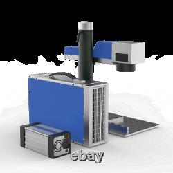 30W Smart Fiber Laser Marking Machine With Rotary&Raycus& CE FDA For Metal