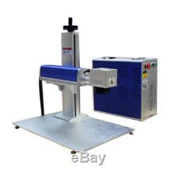 30W Split Fiber Laser Marking Engraving Engraver Machine Raycus Laser Rotary
