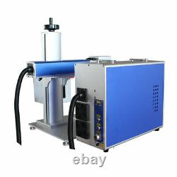 30W Split Fiber Laser Marking Engraving Machine with Rotation Axis &Raycus Laser