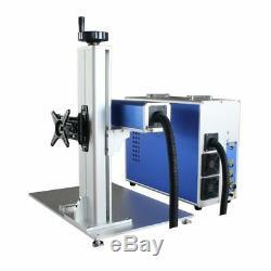 30W Split Fiber Laser Marking Machine Engraving Engraver Machine + Rotary Axis