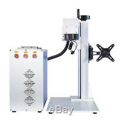 30W Split Fiber Laser Marking Machine With Rotation Axis 7.9x7.9 Ezcad2 FDA CE