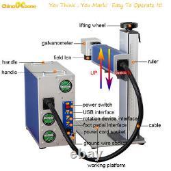 30 watt fiber laser marking machine 300mm300mm metal jewelry engraving machine