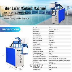 50W 5.9x5.9 Work aera Fiber Laser Marking Machine for Metal Non-Metal Engraver