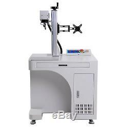 50W 7.9x 7.9 Raycus Fiber Laser Marking Metal Laser Engraver Cutter Desktop