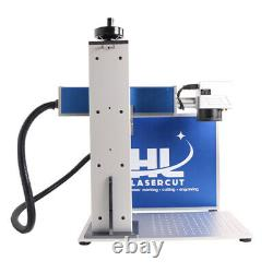 50W Fiber Laser Marking Engraver 175mm Lens Rotary Axis With MAX Laser For Guns