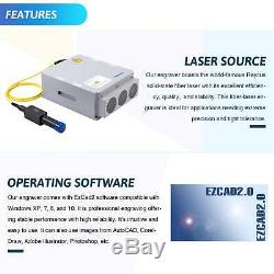 50W Fiber Laser Marking Machine 7.9x 7.9 For Metal & Non-Metal Cutter Engraver