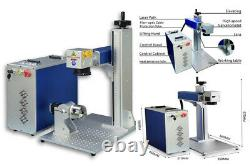 50W JPT Fiber Laser Marking Machine 150x150mm Engraving Machine 80mm Rotary Axis