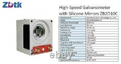 50W MAX Fiber Laser Marking 2 Lenses Silicon Galvo Motorized Z-Axis US SUPPORT