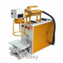 50W Portable Optical Fiber Laser Marking Machine Metal Engraving Printer 110V