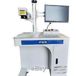 50W Raycus Fiber Laser Marking Machine Metal Non-Metal Engraving CNC ring mark