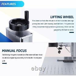 50W Raycus Fiber Laser Marking Metal Steel Marker Engraver Machine 11.8x11.8