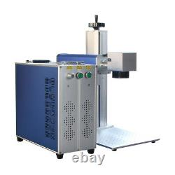 50W Raycus fiber laser marking machine with ring rotary and shipping by DHL