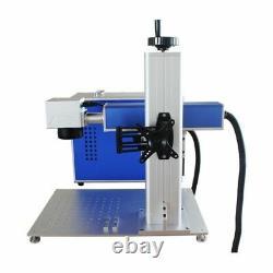 50W Split Raycus Fiber Laser Marking Engraving Machine with Rotary Axis FDA
