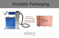 50w Fiber Laser Marking Machine Metal Engrave Engraving + Rotary Axis with EZCAD2