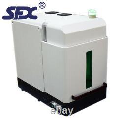 50w JPT Fiber Laser Marking Machine Full Enclosed Design DIY Safe Laser Engraver