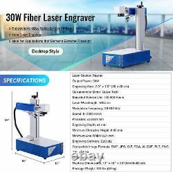 7.9x 7.9 30W Fiber Laser Marking Metal Marker Engraver Desktop Manual Focus