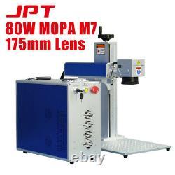 80W MOPA JPT M7 Fiber Laser Marking Machine Laser Marker Engraver 175mm Lens