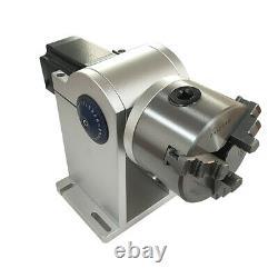 80mm Chuck Laser Rotation Axis Shaft Fiber Laser Marking Machine Rotary Fixture