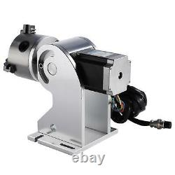 80mm Laser Rotaion Axis Cylinder Rotary F/ Fiber Laser Marking machine Engraving