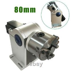 80mm Rotation Axis Fiber Laser Marking Machine Rotary Chuck Rotary Shaft Driver